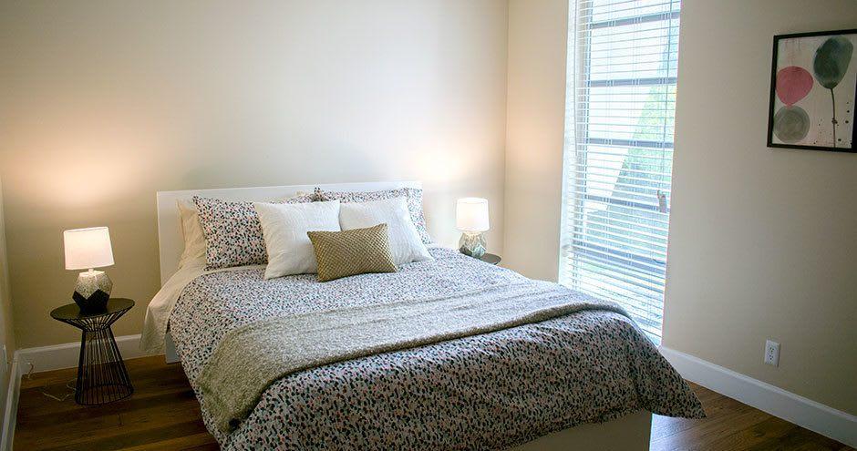 Cozy bedroom at apartments in Plantation, Florida