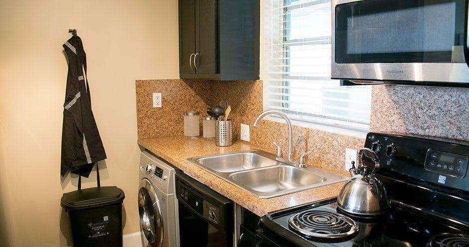 Modern kitchen at apartments in Plantation, FL