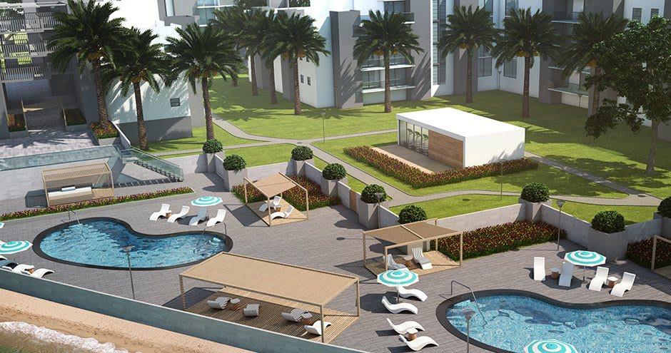 Pool at apartments in Plantation