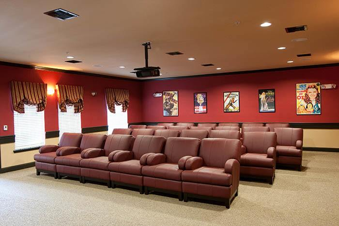 The theater room at Grand Parkway