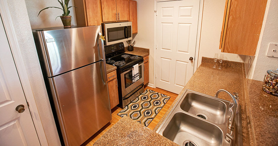 Kitchen at Willow Lake Apartments in Katy, TX