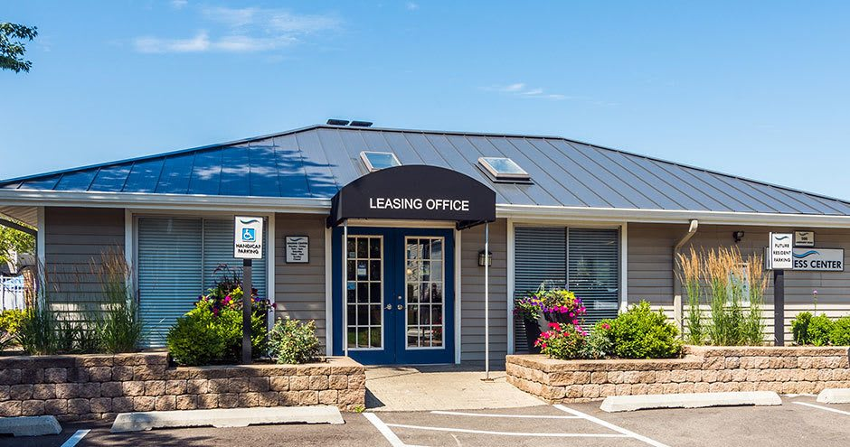 Leasing office at The Lakes at Fountain Square in Waukegan, IL