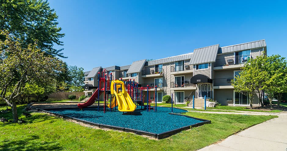 Beautiful playground at apartments in Waukegan, IL