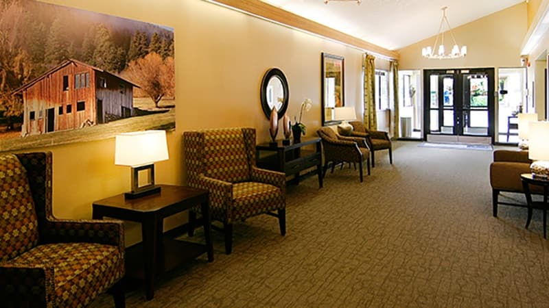 We have plenty of warm and cozy common areas at Regency North Bend Rehabilitation and Nursing Center in North Bend, WA.