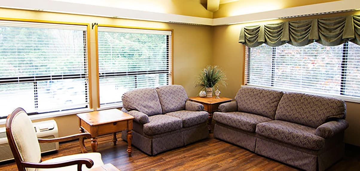 We have plenty of warm and cozy common areas at Park Rose Care Center in Tacoma, WA.