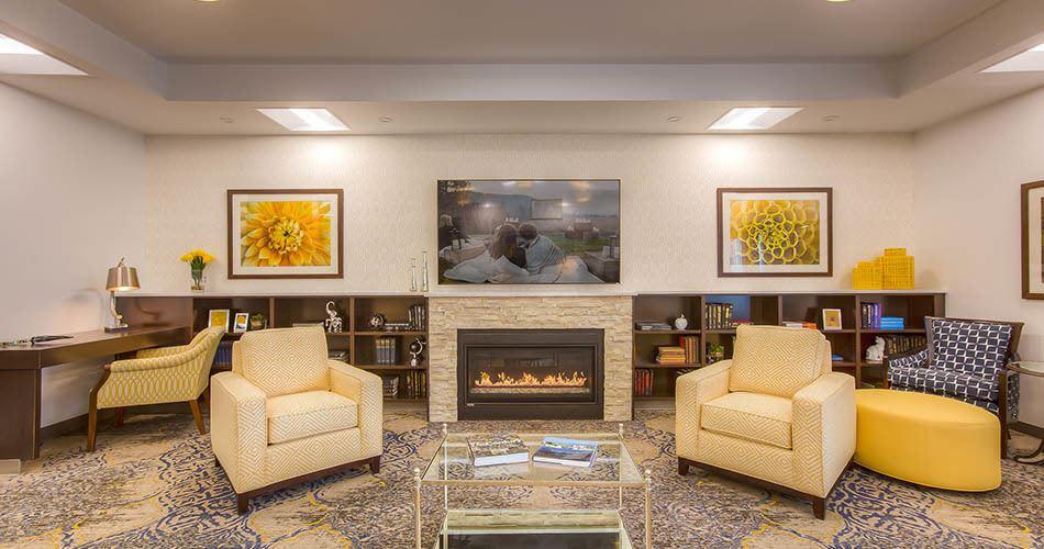 Fireplace at Regency Wenatchee Rehabilitation and Nursing Center in Wenatchee, WA