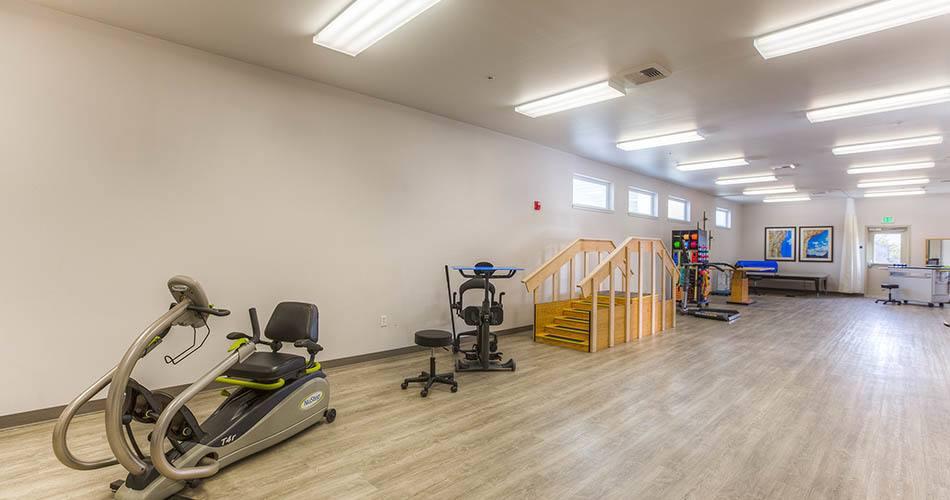 Fitness center at Regency Wenatchee Rehabilitation and Nursing Center in Wenatchee, WA