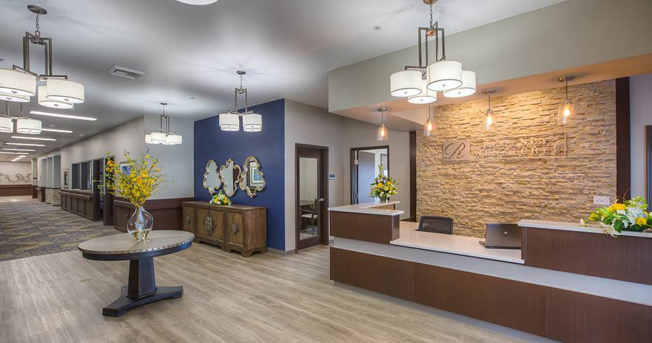 Lobby at our senior living community in Wenatchee, WA