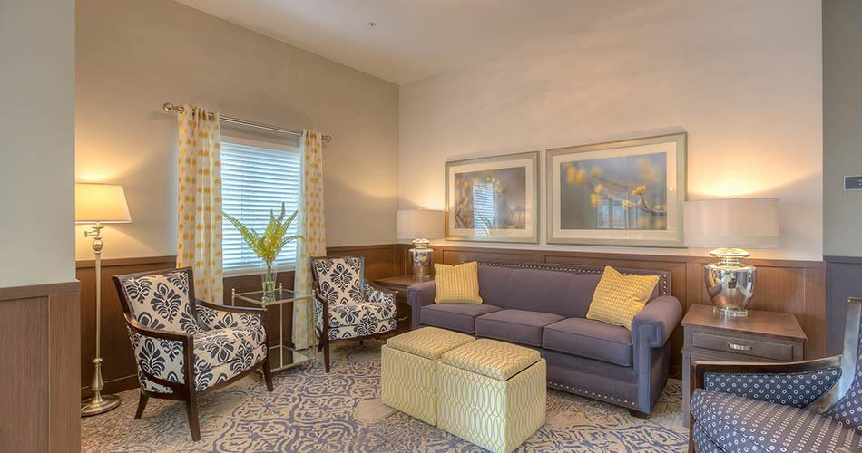 Lounging area at our senior living community in Wenatchee, WA