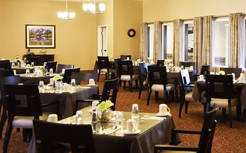 The dining hall at the Senior living community in Prosser, Washington