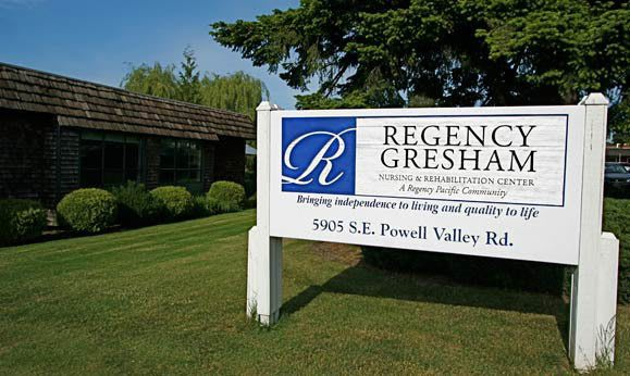 Signage at Regency Gresham Nursing and Rehabilitation Center