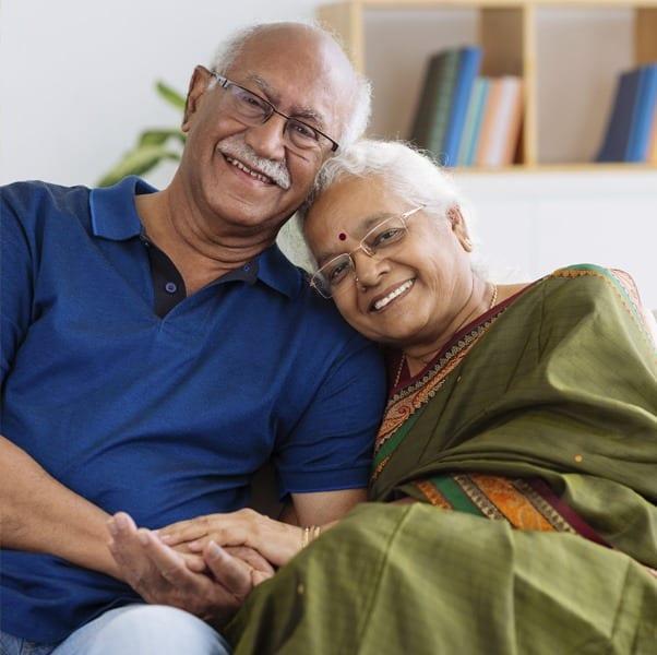Beautiful older couple in Fallbrook, CA.