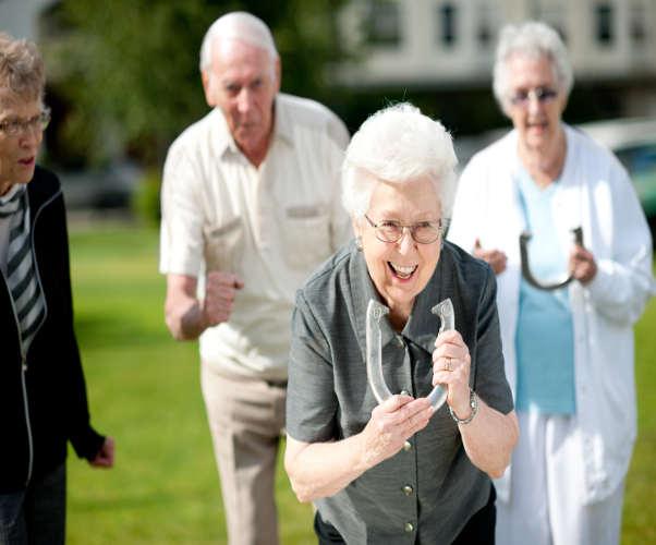 Seniors enjoying life enrichment activities in Fallbrook, California.