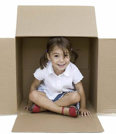 Your kids might be having fun while you're preparing to move your belongings into A Storage Place; just don't pack them in any of the boxes!