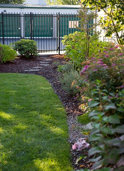 Even the grounds at A Storage Place's facilities are immaculate!