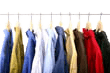 Image of clothes on hangers for A Storage Place's packing & storage tips page