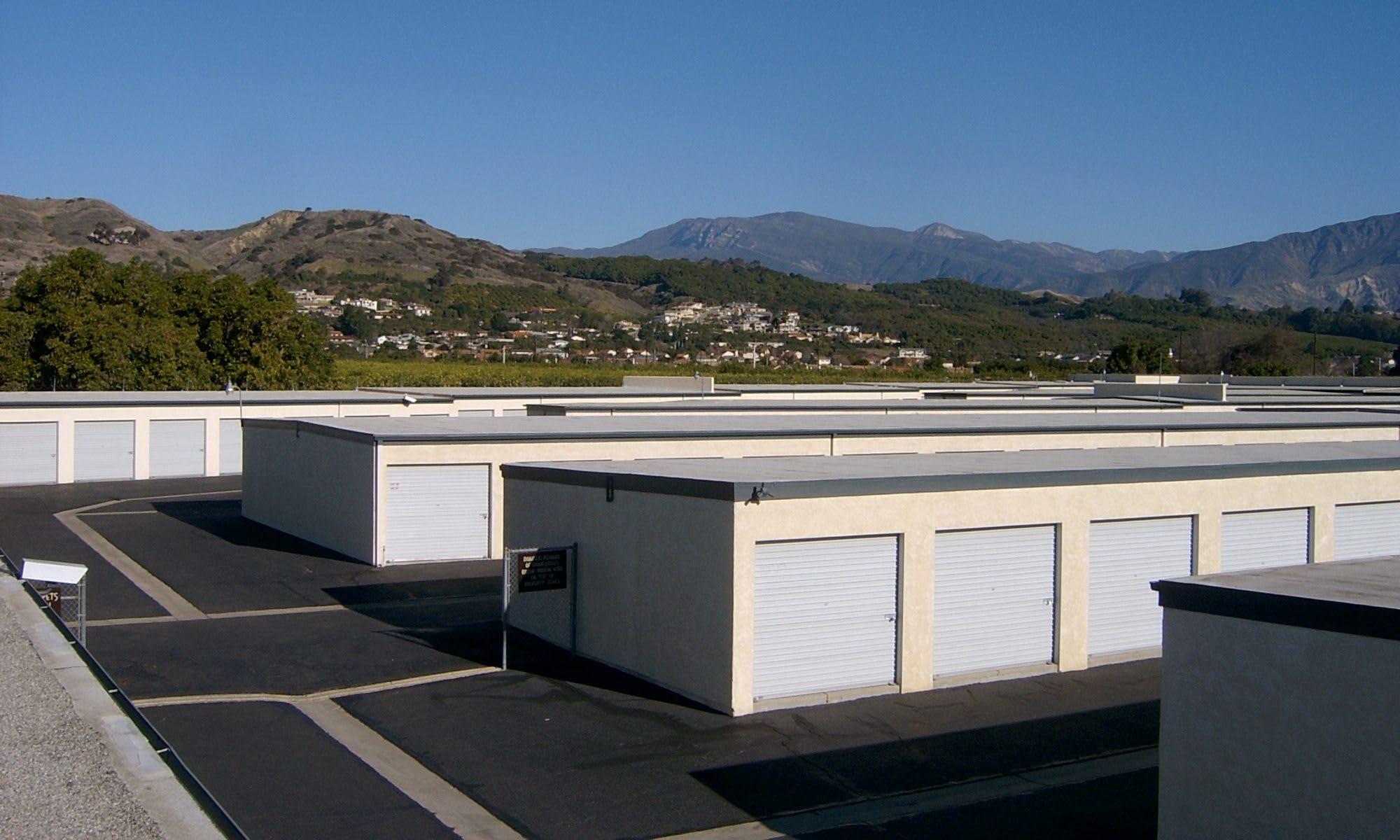 self storage units at The Santa Paula Storage Place