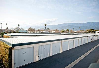 View of storage units in Carpinteria, CA