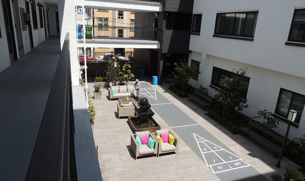 Our lovely courtyard at 1825 Mission in San Francisco, CA