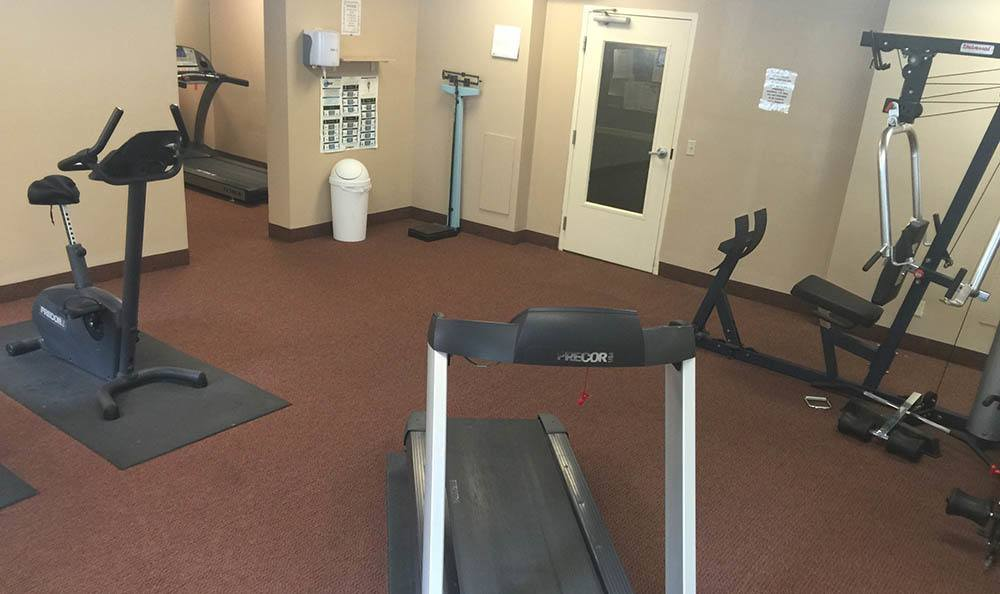 Fitness center at  apartments for rent in OH