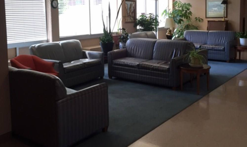 Common room at the senior apartments in Lexington