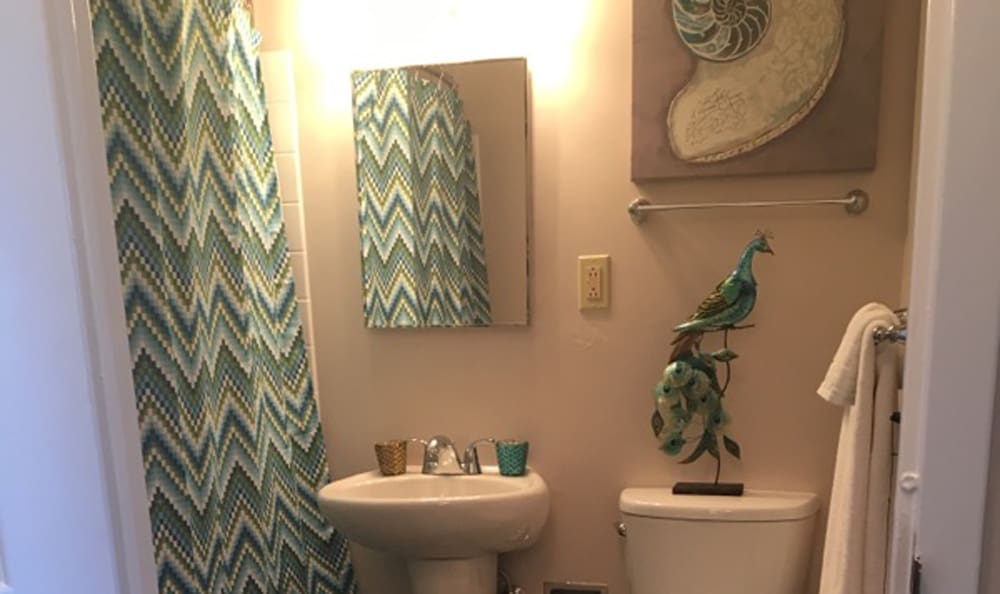 Stylish bathroom for Lexington Senior Apartments