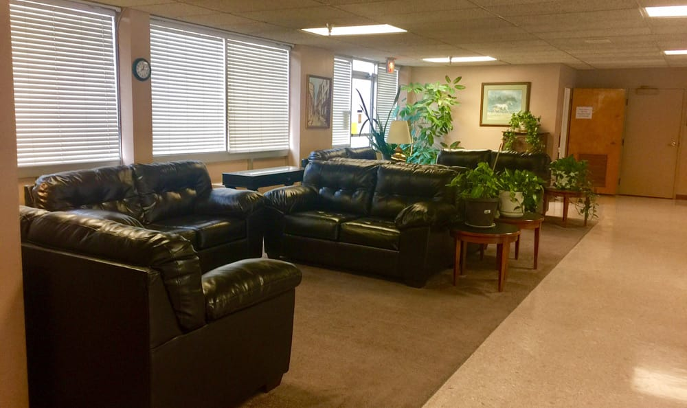 Spacious lounge at Rose Tower Apartments in Lexington