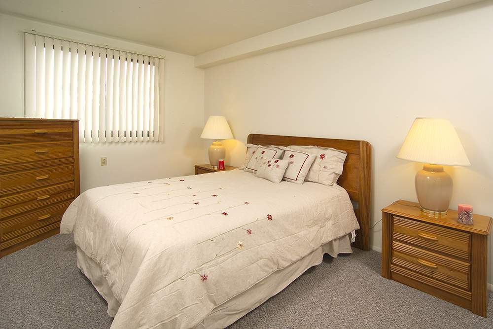 Bright bedrooms at the Senior Apartments in Cleveland