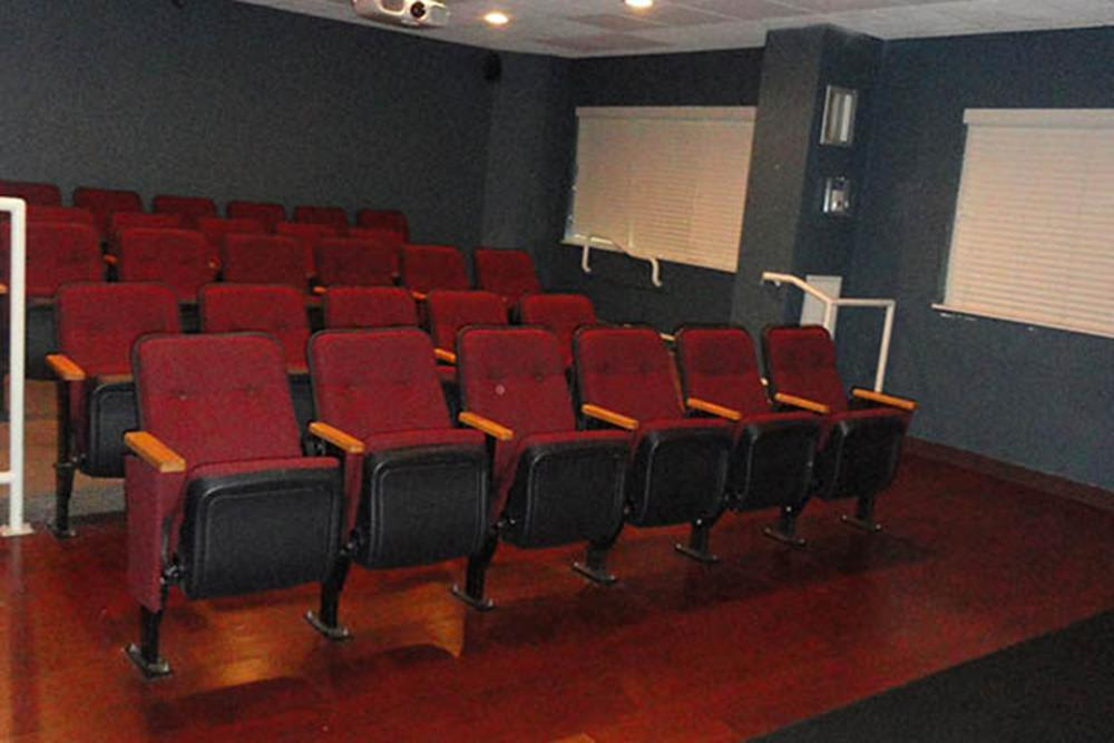 Large Screen Theater At Our Senior Apartments In Cleveland