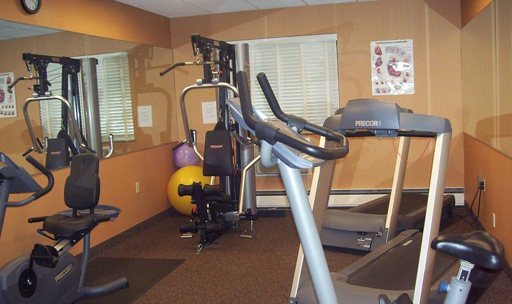 Modern gym at the senior apartments in Mayfield Heights