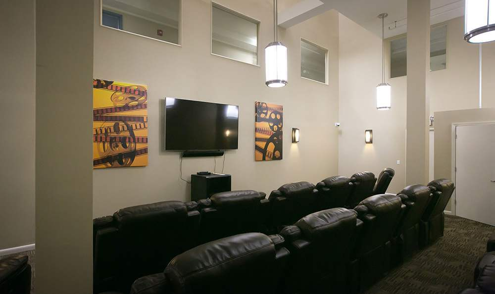 Movie Theatre Room for the senior apartments in Trenton