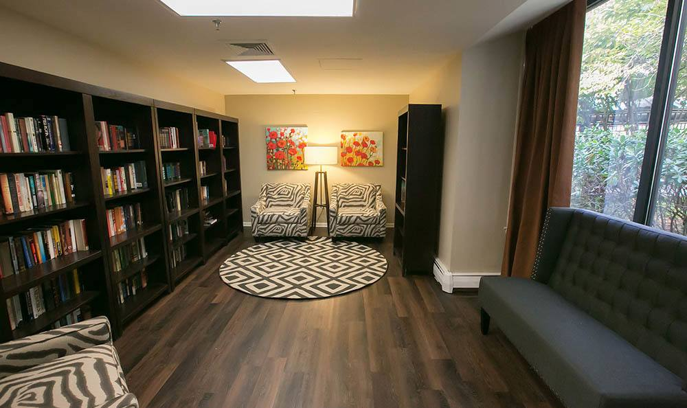 Trenton Senior Apartments Have a Common Library For Residents