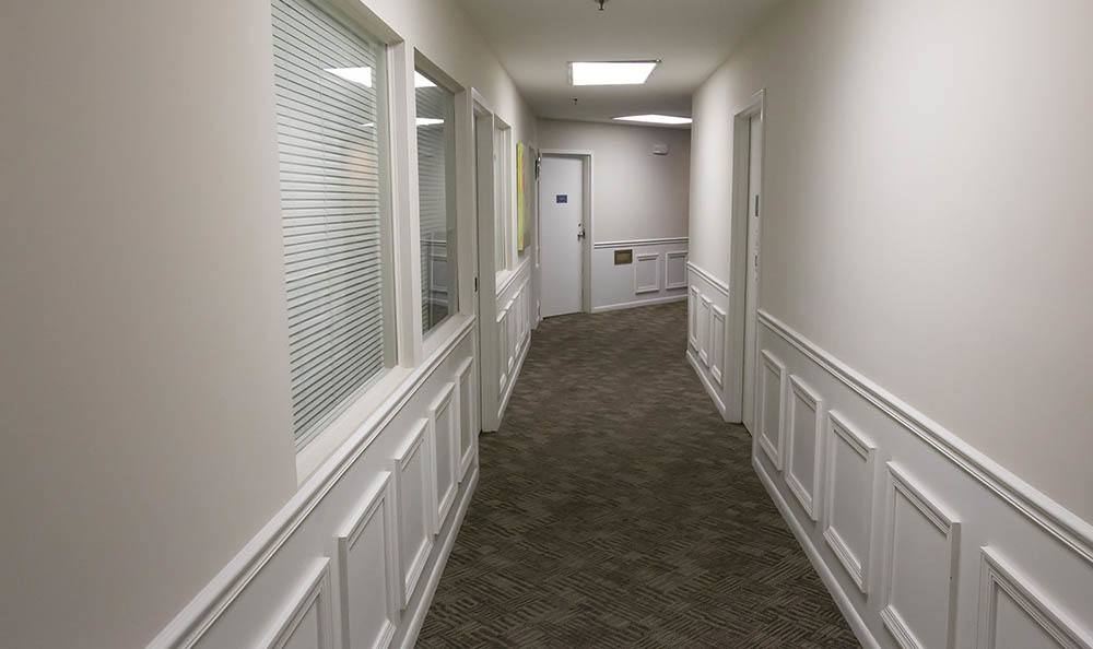 Trenton Senior Apartments have wide Hallway