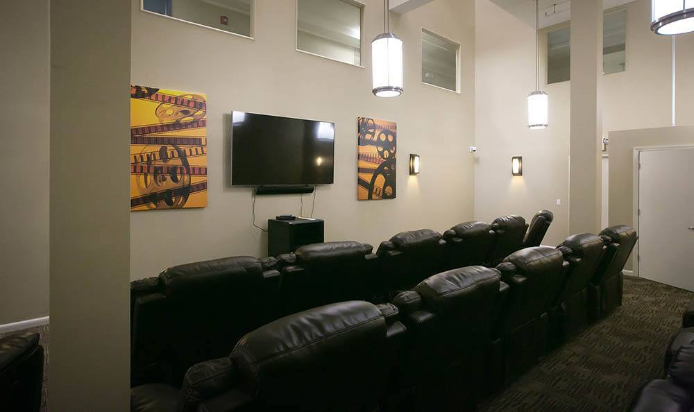 Trenton Senior Apartments Has a Common Movie Room For Residents