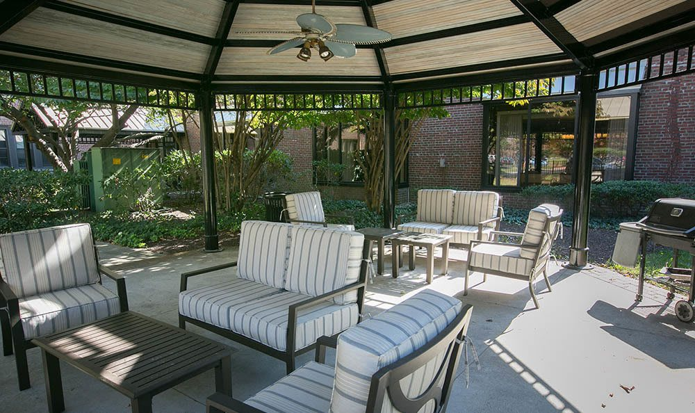 Trenton Senior Apartments have a relaxing Outdoor Patio