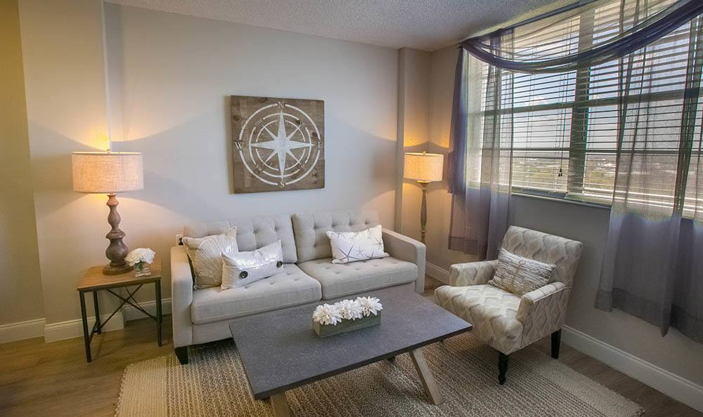Winter Haven Senior Apartments has bright Living Rooms
