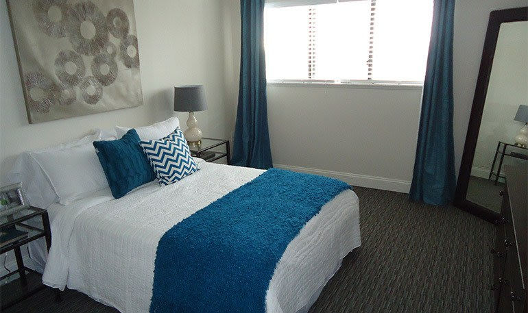 Bright Bedroom at the Apartments for rent in Detroit