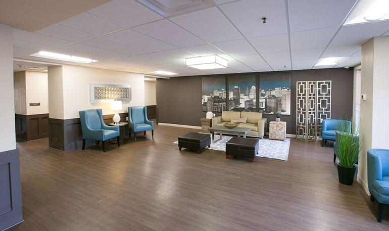 Detroit Senior Apartments has open Community Rooms