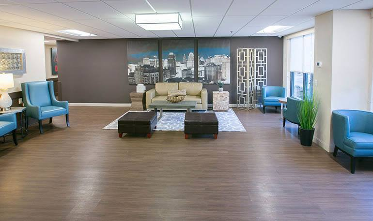 Detroit Senior Apartments have relaxing Community Rooms