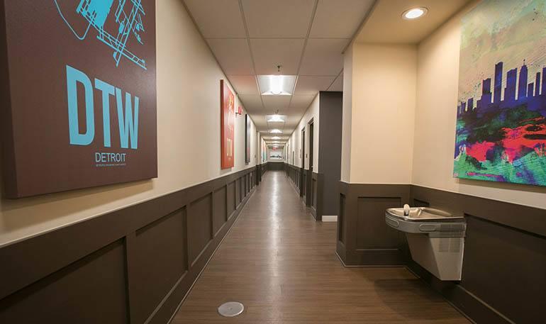Detroit Senior Apartments has wide Hallways