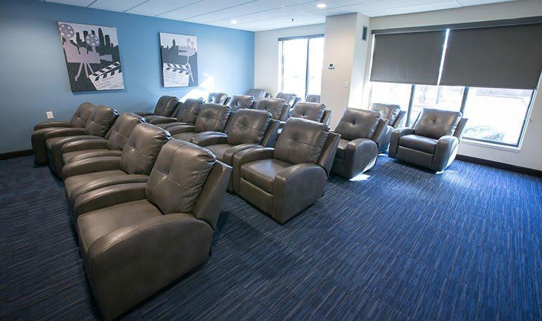 Detroit Senior Apartments has a common Movie Room