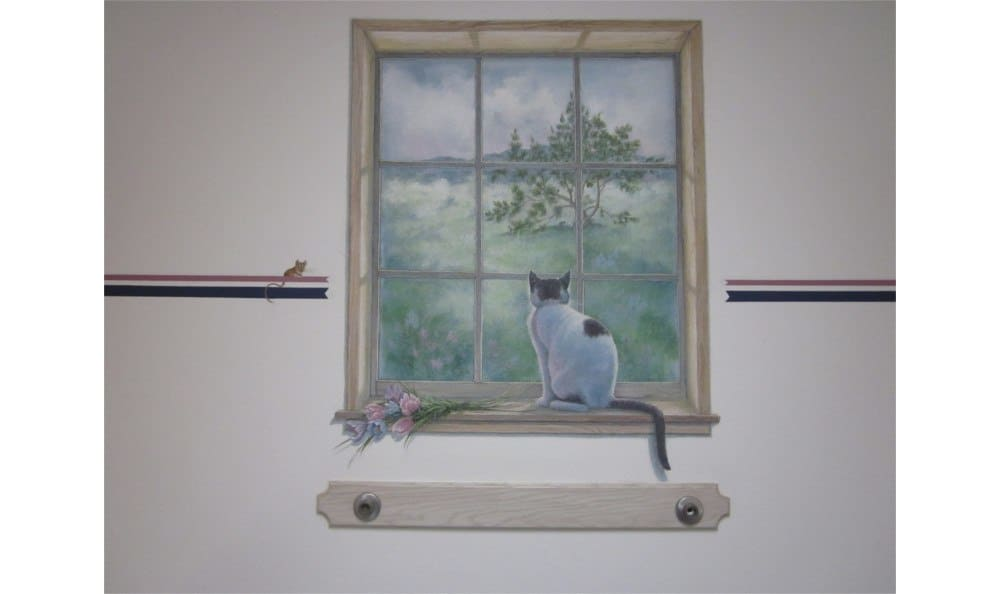 Cat painting at Coronado Veterinary Hospital