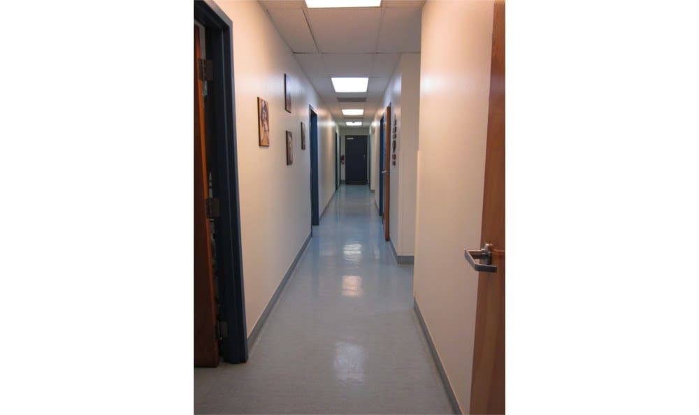A hallway at Coronado Veterinary Hospital