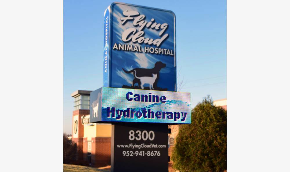 signage at Flying Cloud Animal Hospital