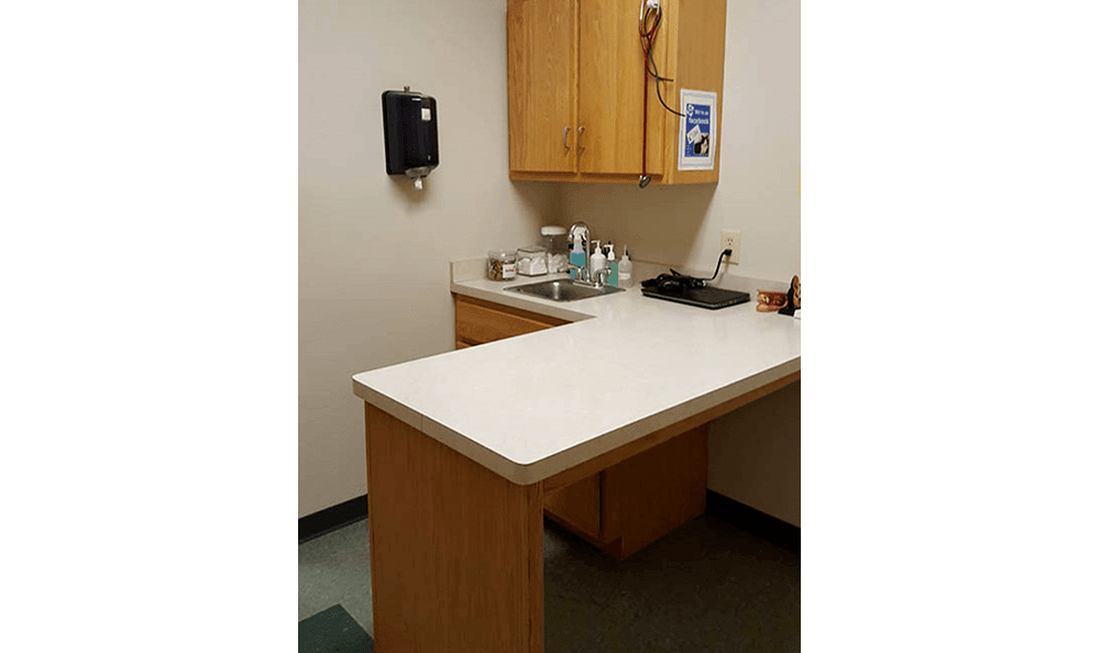 Exam Room at College Mall Veterinary Hospital  In Bloomington