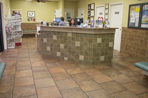 Front desk at Grandview Veterinary Clinic in Odessa