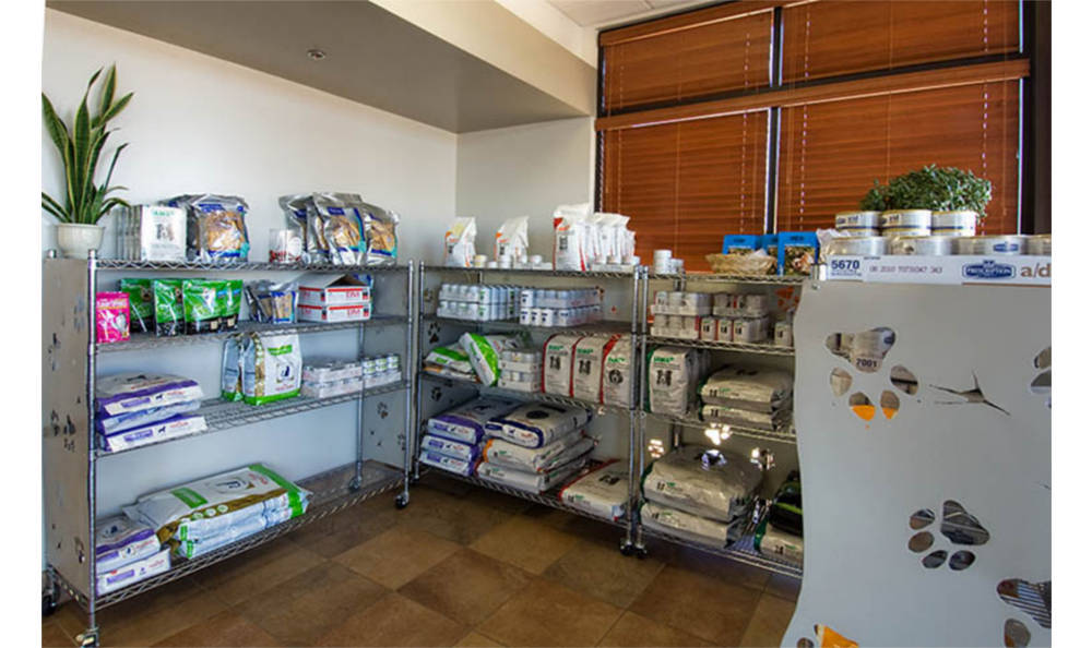 Pet supplies at Camelwest Animal Hospital