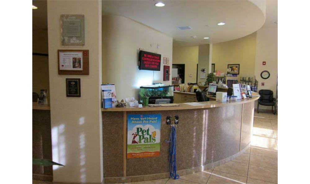 Main office at Novak Animal Care Center