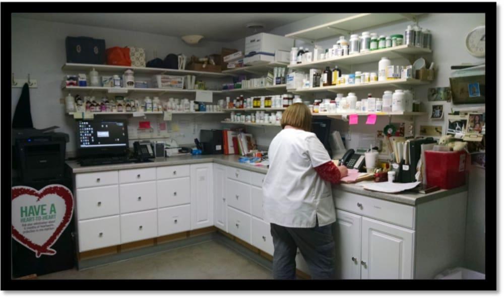 The pharmacy at Minooka Animal Hospital