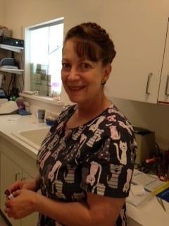 Barbara Cohen at Albuquerque animal hospital